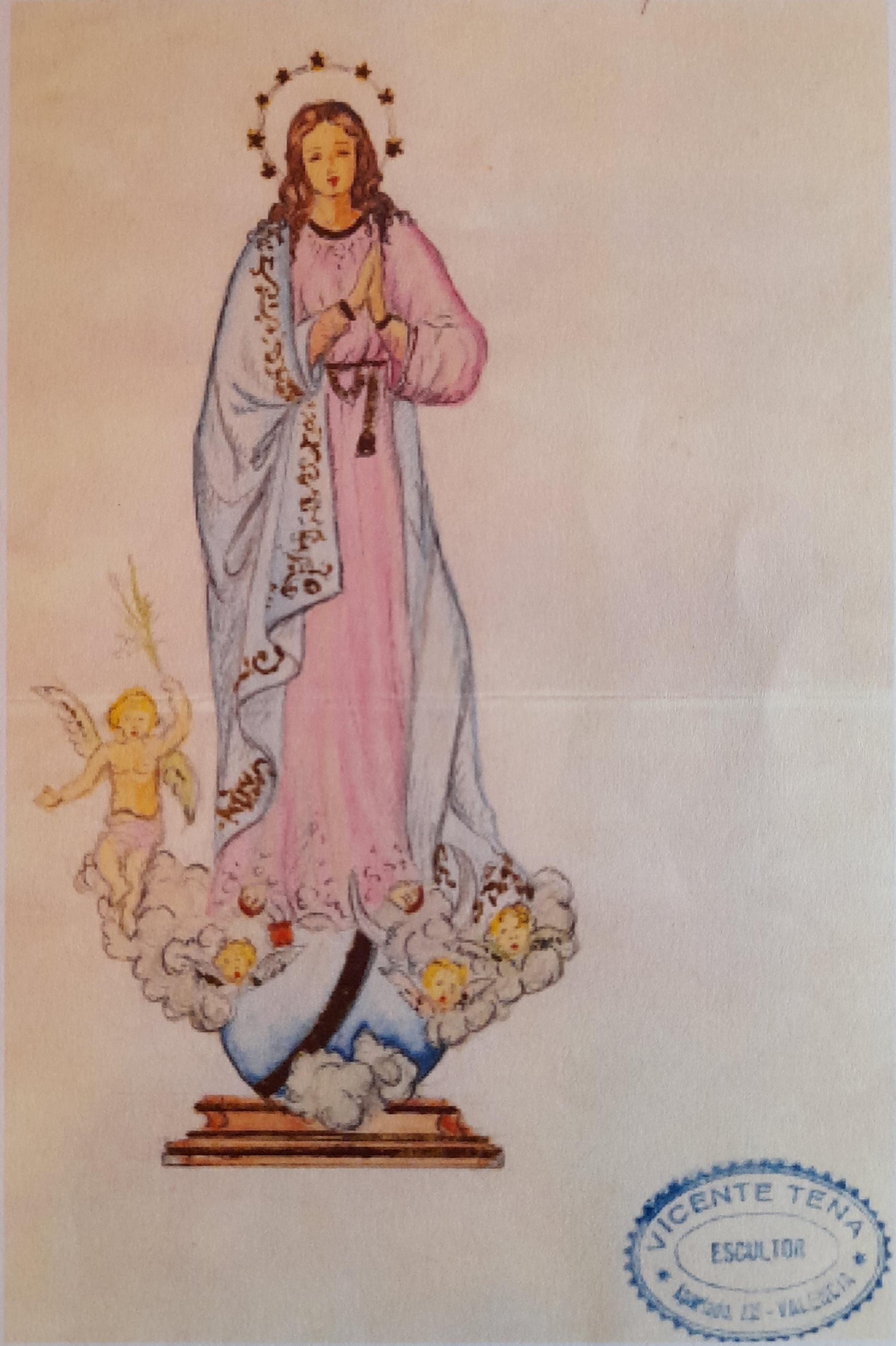 Boceto original de la Inmaculada Concepción